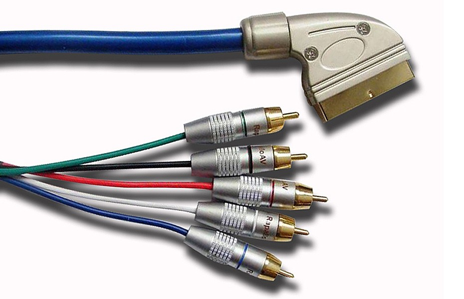 5M MySky Scart to Component Audio Video Cable