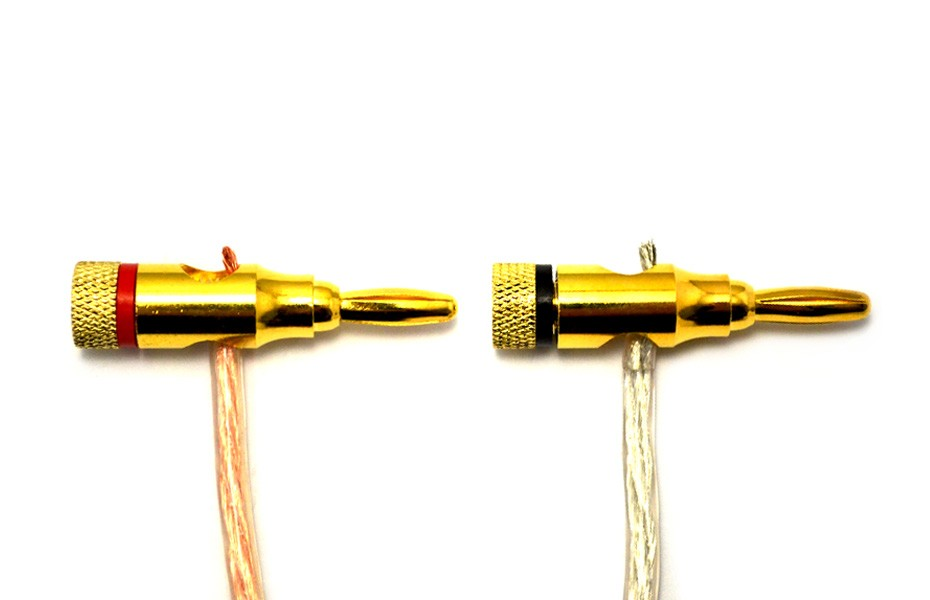 High-Quality Copper Speaker Banana Plugs - Open Screw Type