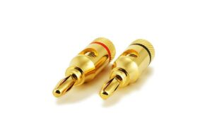 High-Quality Copper Speaker Banana Plugs - Open Screw Type