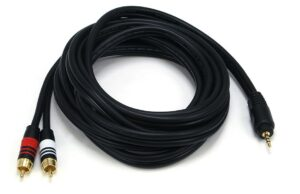 3M (10ft) Premium 3.5mm Stereo Male to 2RCA Male -0