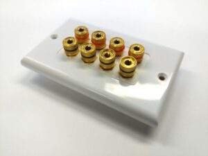 Banana Binding Post Wall Plate for 4 Speaker - Coupler Type-0