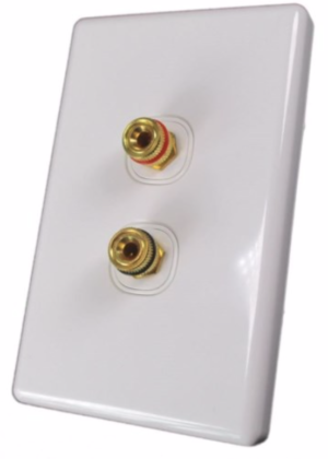 Banana Binding Post Wall Plate for 1 Speaker - Coupler Type