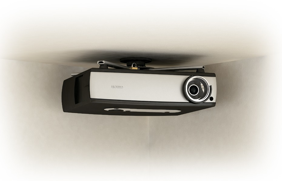 Low Profile Universal Projector Ceiling Mount - For Larger Projectors