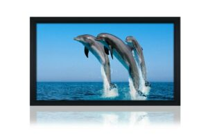 "133"" 16:9 Fixed Frame Screen - Black Velvet Frame"