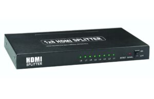 1x8 HDMI Splitter with 3D Passthrough Full HD 1080P, Deep Color, HD Audio-0
