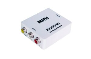 AV to HDMI Video Audio Signal Mini Converter Adapter For TV VCR DVD 1080P