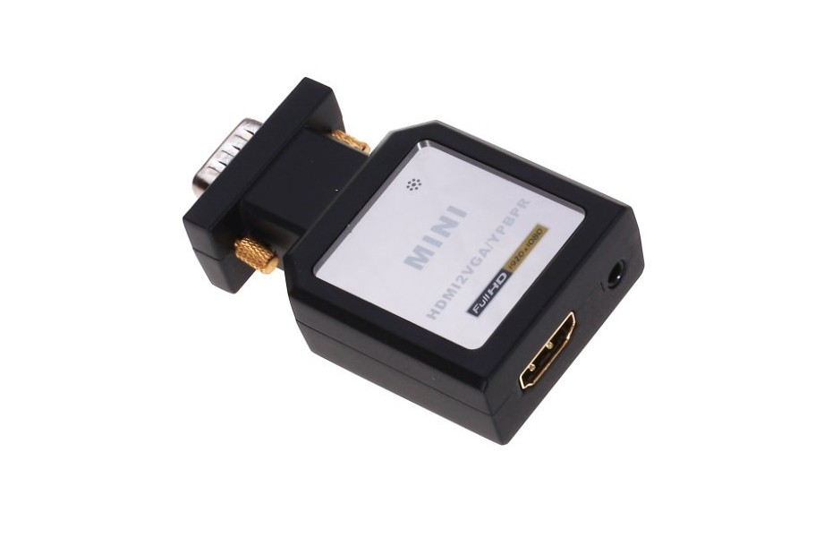 Full HD 1080P HDMI to VGA + YPBPR SPDIF Out Video Audio Mini Converter 5.1CH Audio