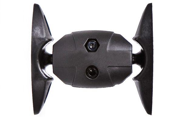 Tilting/360 Degree Swiveling Speaker Wall Mounting Bracket - Black (Max 1.8kgs) - Set of 2-0