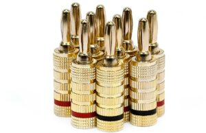 Five Pairs of High-Quality Copper Speaker Banana Plugs