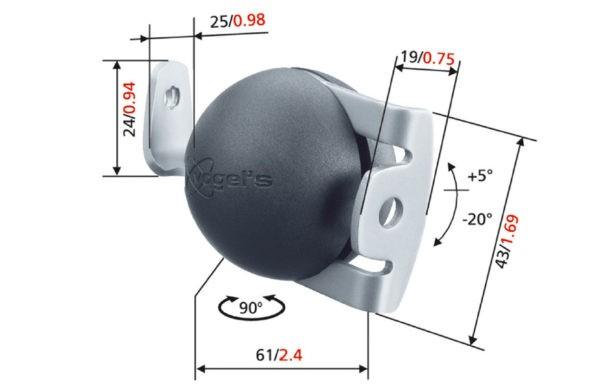 Vogels ELW 6600 Speaker Wall Mount-3593