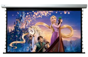 92 inch VistaView Flexible Motorized Tab-tensioned 16:9 Screen with RS232 Control