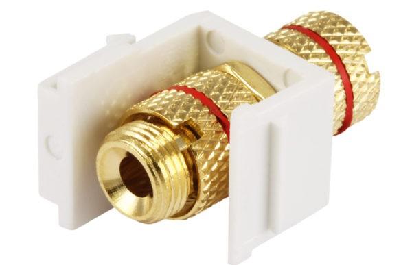 Keystone Jack - Banana Binding Post (Red Ring)