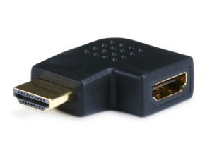 HDMI Right Angle Adapter (Male to Female) - 90 Degree - Vertical Flat Left-0