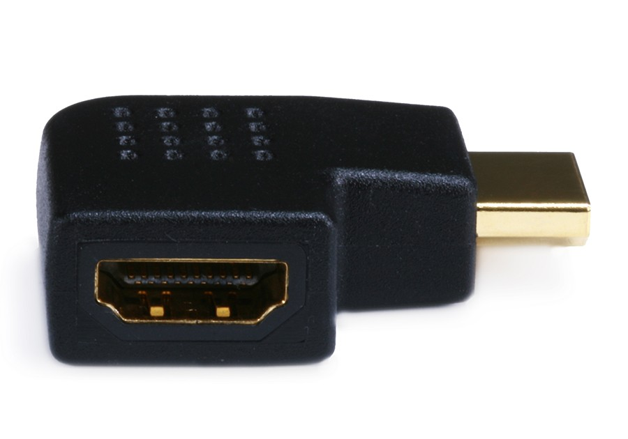 HDMI Right Angle Adapter (Male to Female) - 270 Degree - Vertical Flat Right