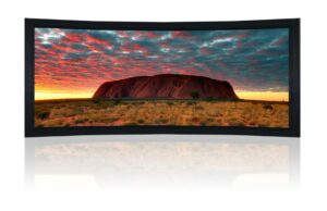 "140"" 2.35:1 Curved Cinemascope Fixed Frame Screen - Black Velvet Frame"