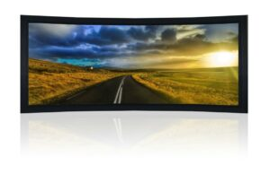 "133"" 2.35:1 Curved Cinemascope Acoustic Fixed Frame Screen - Black Velvet Frame"