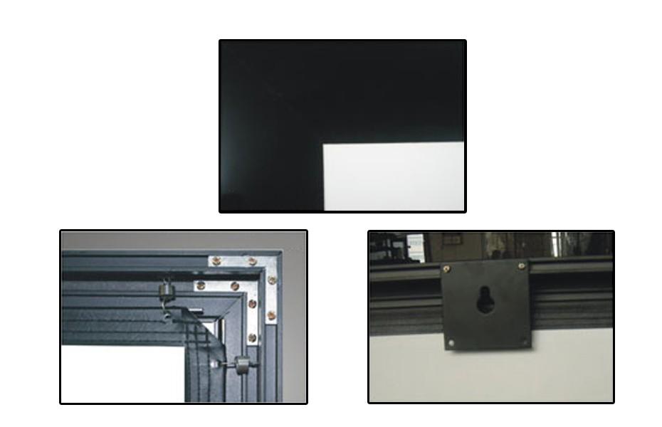 """133"""" 2.35:1 Cinemascope Fixed Frame Screen - Black Velvet Frame"""