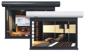 "96"" Indigo 16:9 acoustic motorised screen"