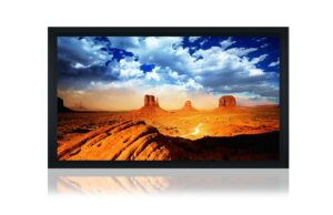 "150"" Indigo 16:9 acoustic fixed frame screen"