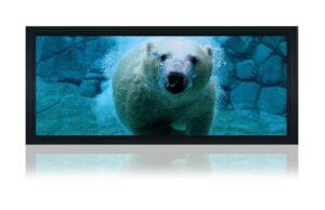 "110"" Indigo 2.35:1 acoustic fixed frame screen"
