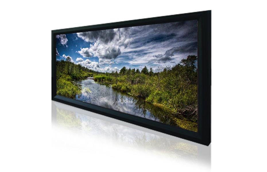 """160"""" 2.35:1 Cinemascope Fixed Frame Screen - Black Velvet Frame"""