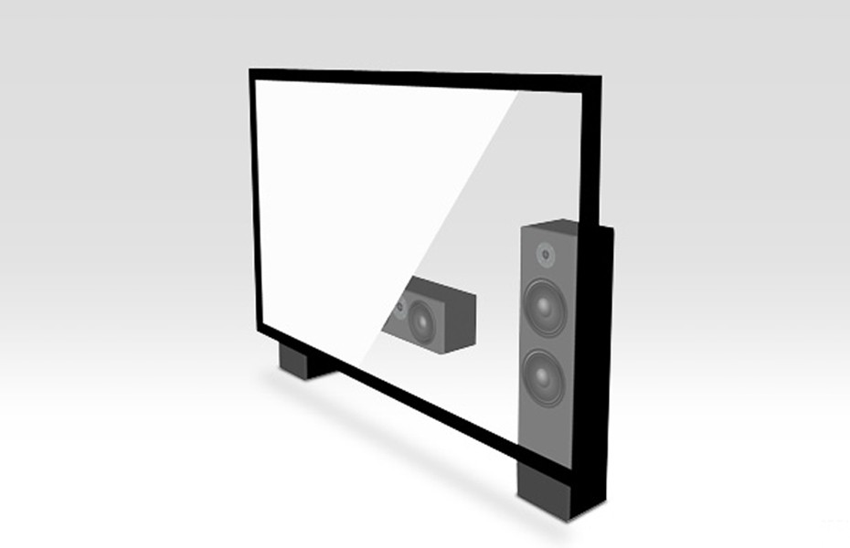 """180"""" 16:9 Acoustically Transparent Fixed Frame Screen"""