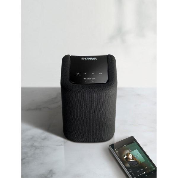 Yamaha WX-010 alongside musiccast app