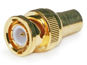 BNC Male to RCA Female Adapter 75ohm - Gold Plated