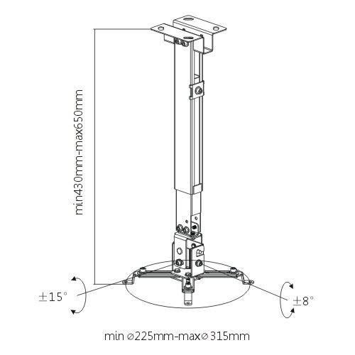 Universal Wall & Ceiling Projector Mount