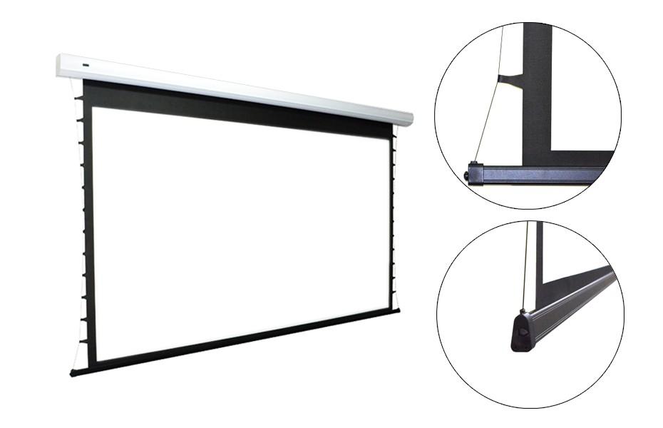 "200"" Indigo 16:9 acoustic tab-tension motorised screen 4k ready"