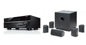 Elac Cinema 5 and Yamaha RX-V385 AV Receiver Bundle