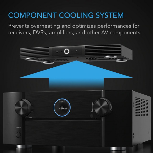 AC Infinity Aircom S7 Receiver and AV Component Cooling System - Top Exhaust