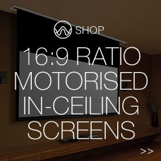 16:9 ratio motorised screen in-ceiling