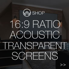 16:9 Acoustic Transparent Screen
