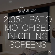 2.35:1 ratio motorised in ceiling screens