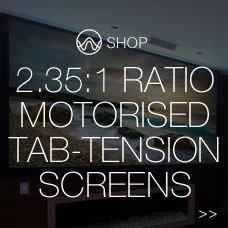 2.35:1 ratio motorised tab-tension screens