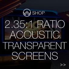 2.35:1 ratio acoustic transparent screens