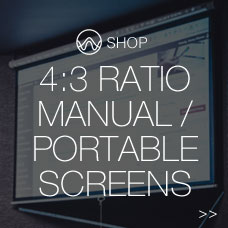4:3 ratio manual/portable screens
