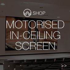 Motorised In-Ceiling Screen