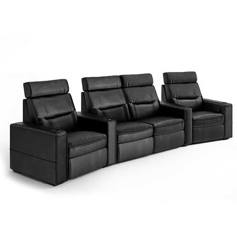 Rapallo | Salamander Design TC3 Home Theatre Seating - 4 Seat Wedge Loveseat Motorized Recliner