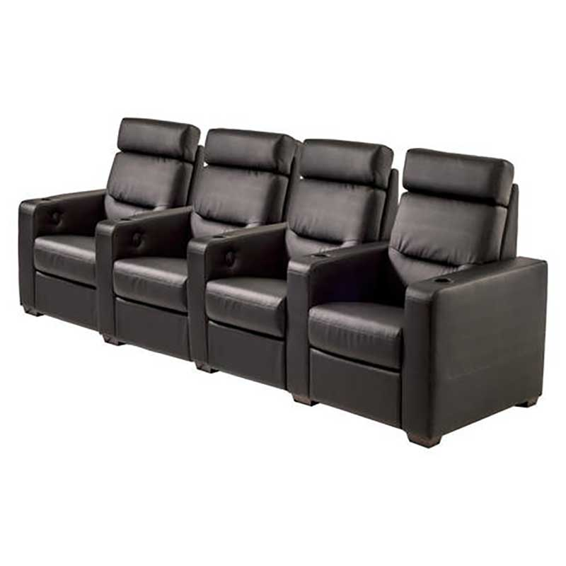 Rapallo | Salamander Design TC3 Home Theatre Seating - 4 Individual Seat Straight Motorized Recliner