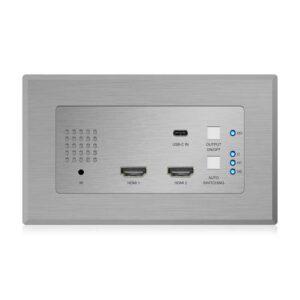 Rapallo | Blustream HEX31WP-TX 2 x HDMI & 1 x USB-C Wall Plate HDBaseT™ Transmitter