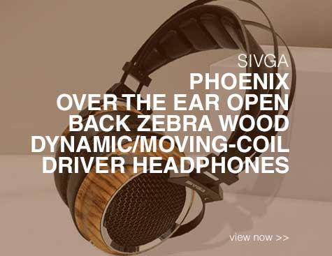 Rapallo | SIVGA Phoenix Over the Ear Open Back Zebra Wood Dynamic/Moving-Coil Driver Headphones