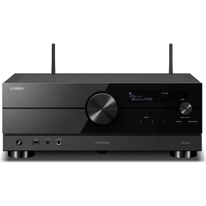 Rapallo | Yamaha Aventage RX-A2A 7.2 Channel AVR, Dolby Atmos®, Wi-Fi®, Bluetooth®, Apple AirPlay® 2, and Amazon Alexa compatibility